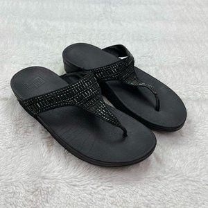 FitFlop Incastone Womens Sandals Size 9 Black